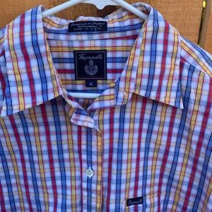 Faconnable Tops - Faconnable by Albert Goldberg Plaid Top Shirt XL